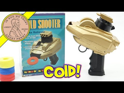 Gold Foam Disc Toy Shooter - The Stress Relieving Shooter With Sounds