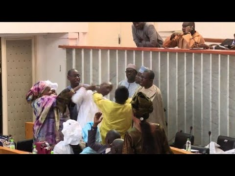 Fight at Senegal's National Assembly over election bill