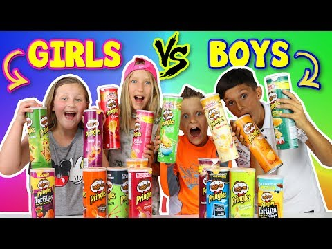 Thumbnail: GIRLS vs BOYS Pringles Challenge!!!
