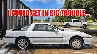 homepage tile video photo for We found something VERY illegal in the Abandoned Supra....