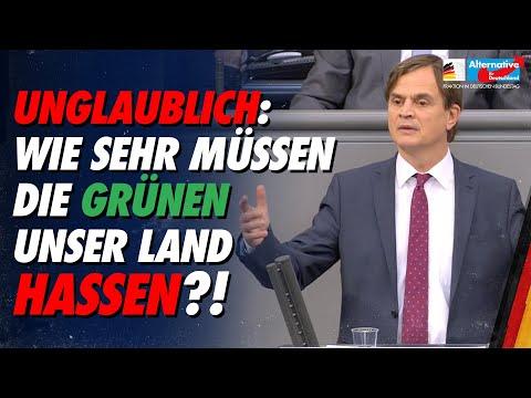 Bernd Baumann attackiert die grünen Deutschlandabschaffer! – AfD-Fraktion