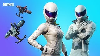 Fortnite new skins. WHITEOUT,OVERTAKER - Motorbike skins and gliders