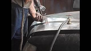 Ремонт после ремонта,  лёгкий лобовой удар Мерседеса.