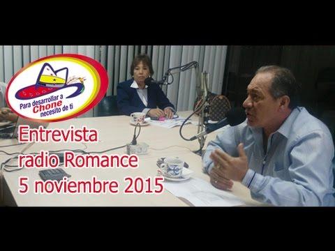 Entrevista radio Romance 5 noviembre 2015