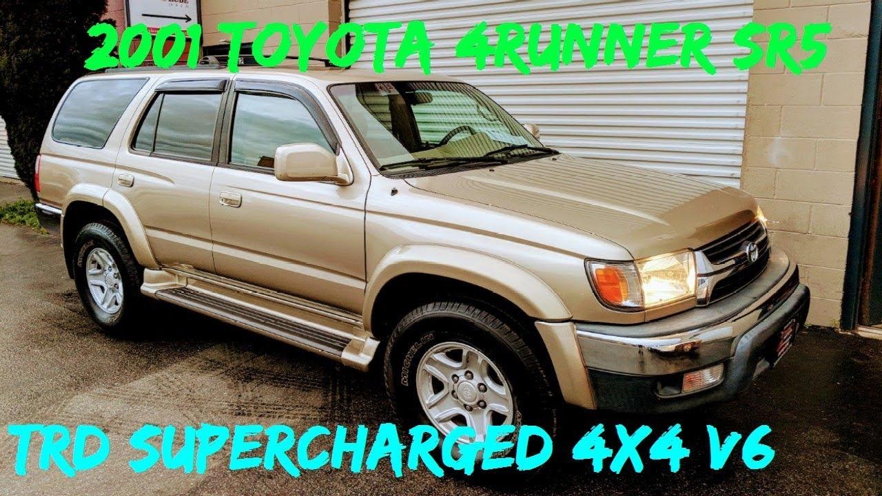 2001 Toyota 4Runner SR5 4x4 3 4L V6 5VZ-FE TRD Supercharged