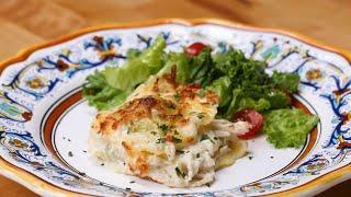 Chicken Alfredo Ravioli Lasagna