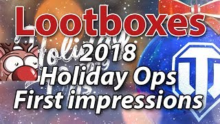 First Impressions: Lootboxes in World of Tanks Holiday Ops 2019..