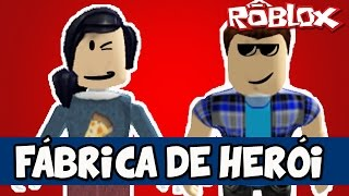 BUILDING A HERO.. E UN VILLAIN! -ROBLOX (Super Hero Tycoon!)