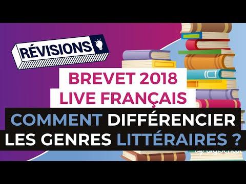 Brevet 2018 - Révisions de Français en Live - Comment différencier les genres littéraires ?