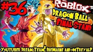 YOUTUBER DREAM TEAM! IBEMAINE E OWTREYALP! | Roblox: Dragon Ball final stand-episódio 36