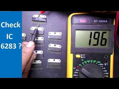 How To Test IC Chips by using Multimeter (IC 6283)