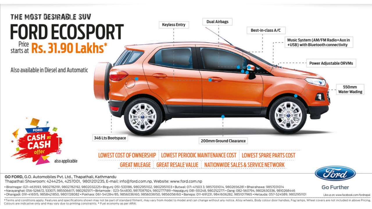 Ford Eco Sports New Price Youtube