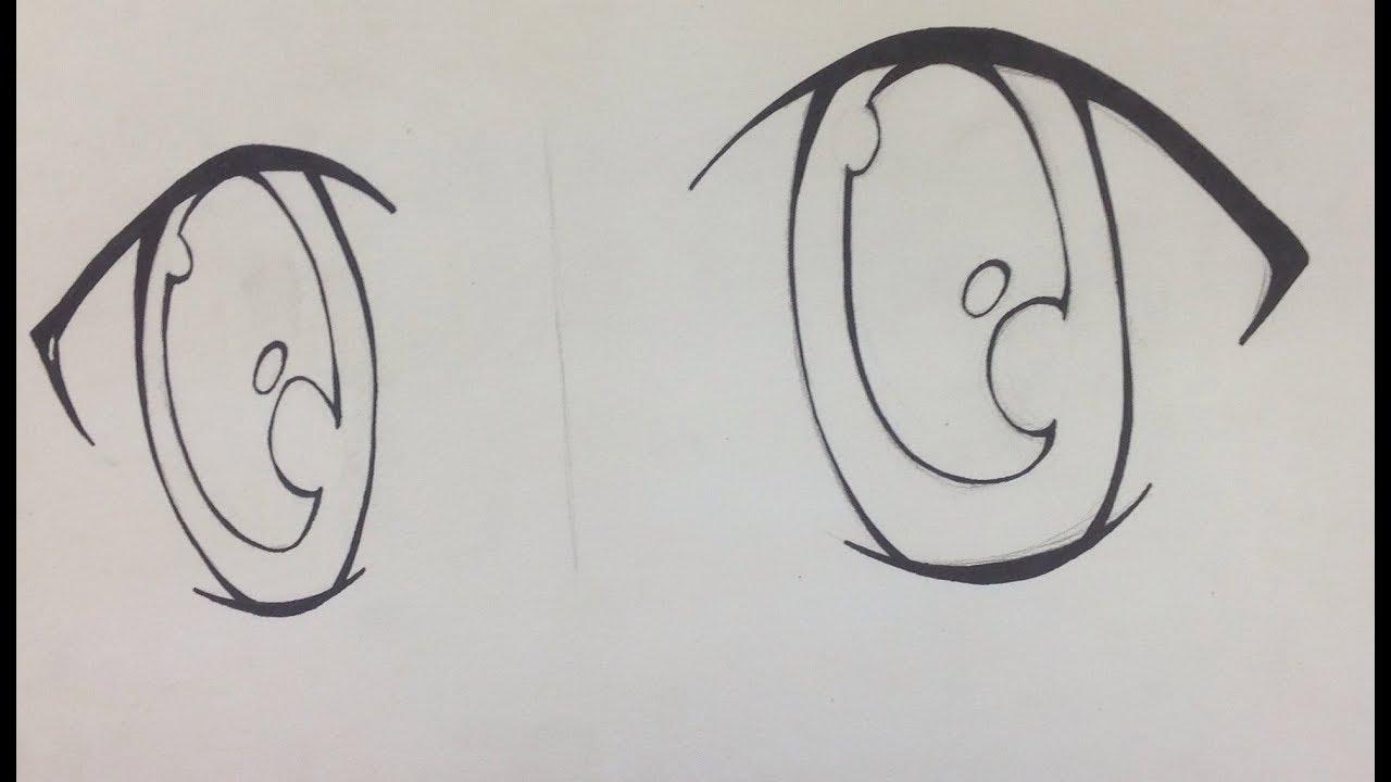 تعليم الرسم 16 كيف ترسم عيون الانمي How To Draw Anime Eyes Youtube