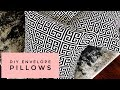 How To Make Designer Envelope Pillows In 10 Minutes - So Easy!