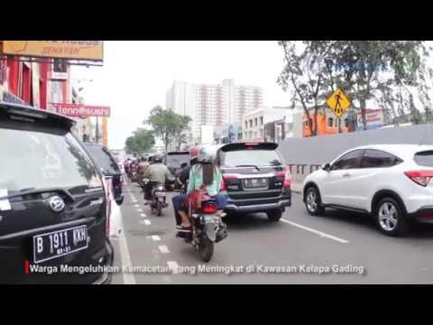 Kawasan Kelapa Gading Macet Imbas Pembangunan LRT - Infonitas.com