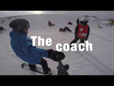 Snowboarding in Beijing 2022 winter Olympic resort, Genting