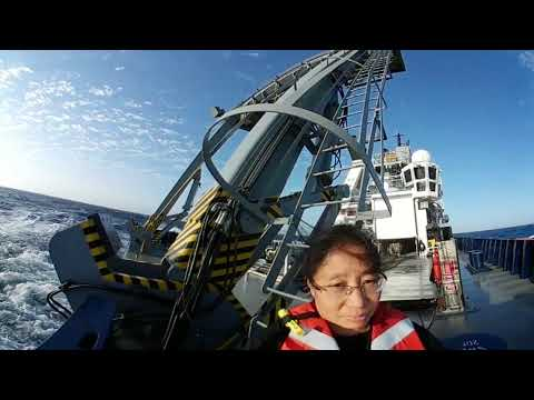 Launching XBT on R/V Sally Ride in 360