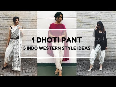 HOW TO STYLE DHOTI PANTS | 5 INDO WESTERN STYLING FOR OFFICE/COLLEGE/INDIAN WEDDINGS /DIWALI 2018