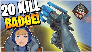 I unlocked the 20 Kill Badge with Wattson (Apex Legends PS4)