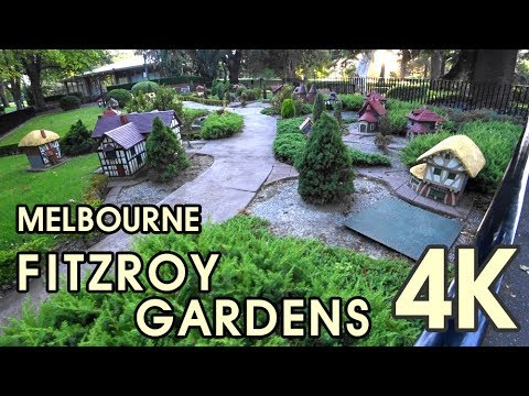 【4K UHD BEAUTIFUL MELBOURNE AUSTRALIA】 Walking Through Fitzroy Gardens