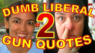Dumbest Liberal Gun Quotes Part 2 - Anti-Gun Fails Compilation - SJW vs. 2nd Amendment Red Flag Laws