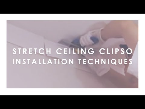 Stretch ceiling CLIPSO BUILDING®. Installation techniques