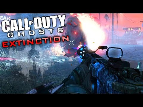 Call of Duty GHOSTS EXTINCTION - Getting ALL challenges completed! [EASY TEETH]