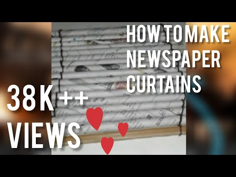 How to make news paper curtains  at home in hindi