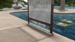 Glass Water Walls Demo Video