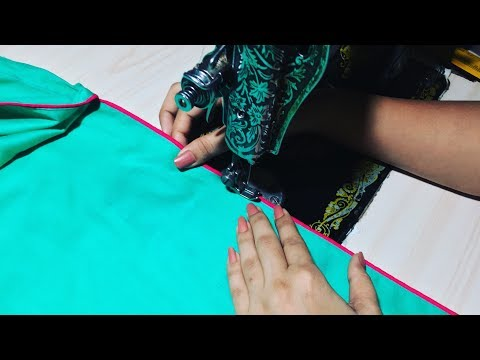 Attach Underground Piping On Slits (Chaak) Of Kurti/Kameez