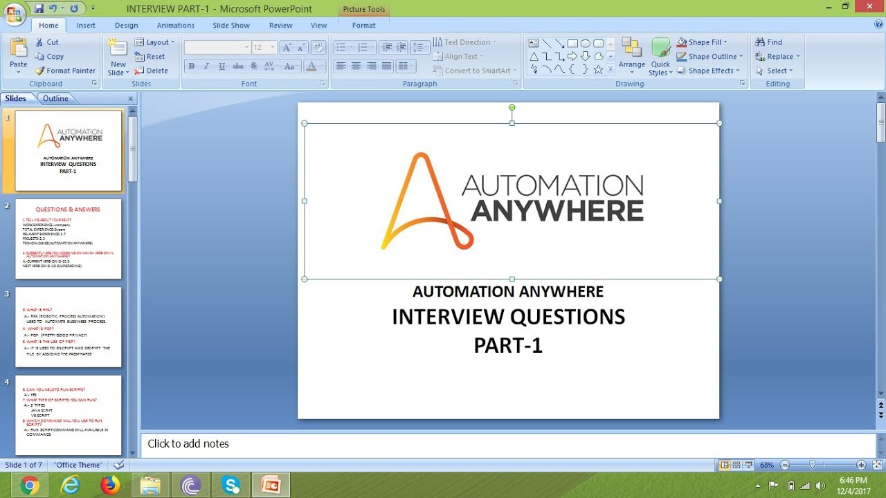 INTERVIEW QUESTIONS AUTOMATION ANYWHERE 10 5
