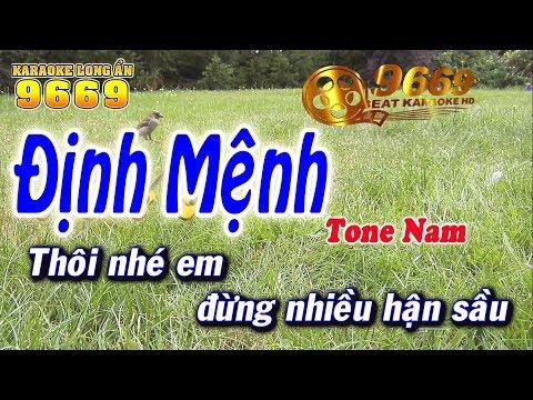 Karaoke Định Mệnh | Tone Nam beat chuẩn | Nhạc sống LA STUDIO | Karaoke 9669
