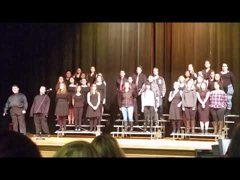 Kaitlyn and Jacob sing together at Chicopee High School