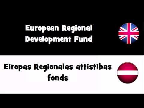 SAY IT IN 20 LANGUAGES = European Regional Development Fund