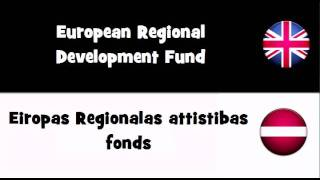 SAY IT IN 20 LANGUAGES = European Regional Development Fund