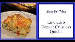 Atkins Diet Recipe: Low Carb Keto Crustless Quiche