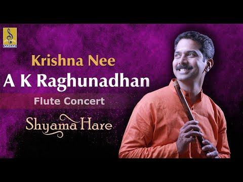 Krishna nee - a flute concert by A.K.Raghunadhan
