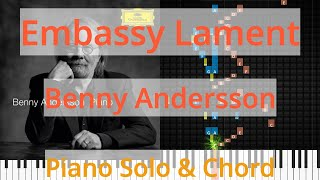 🎹Solo & Chord, Embassy Lament, Benny Andersson, Synthesia Piano