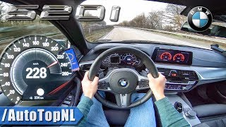 BMW 5 Series G30 520i AUTOBAHN POV TOP SPEED by AutoTopNL