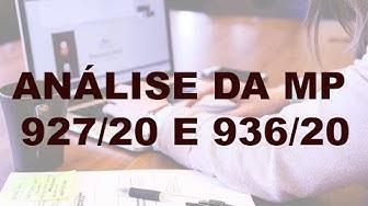 ANÁLISE DA MP 927/20 e 936/20