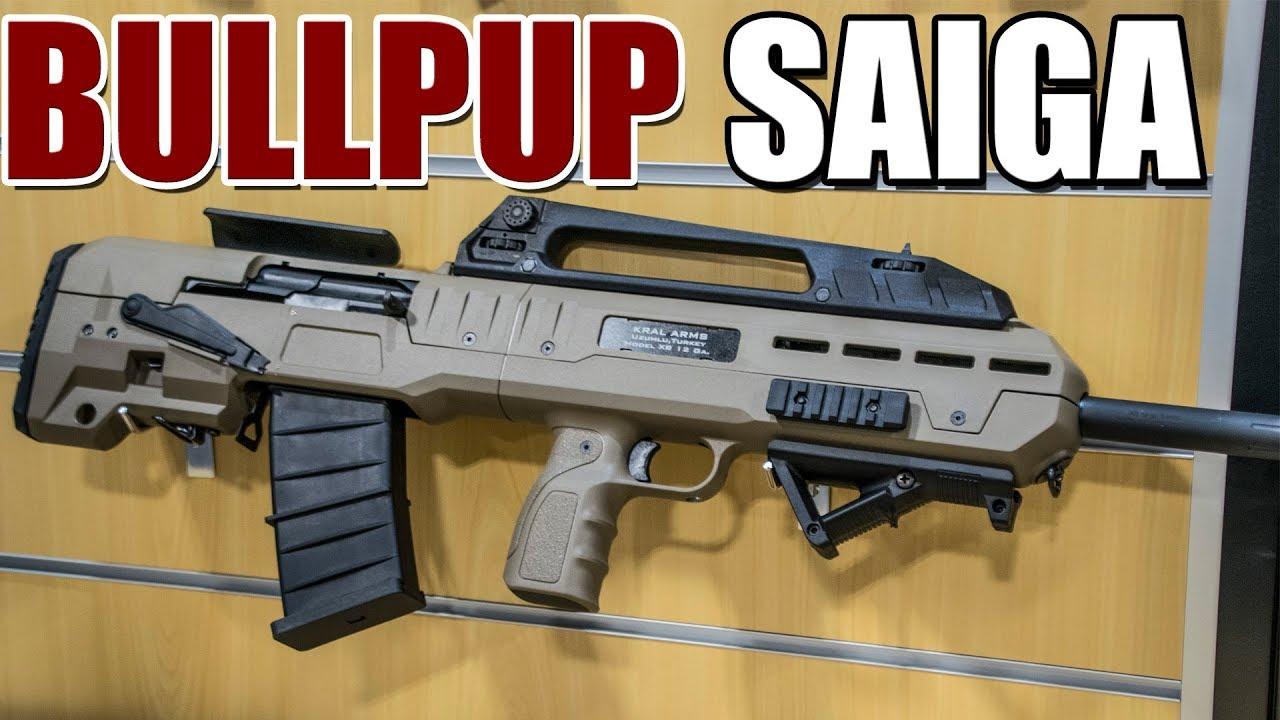 IO Unveils Bullpup Saiga Shotgun - XB (SHOT Show 2019)
