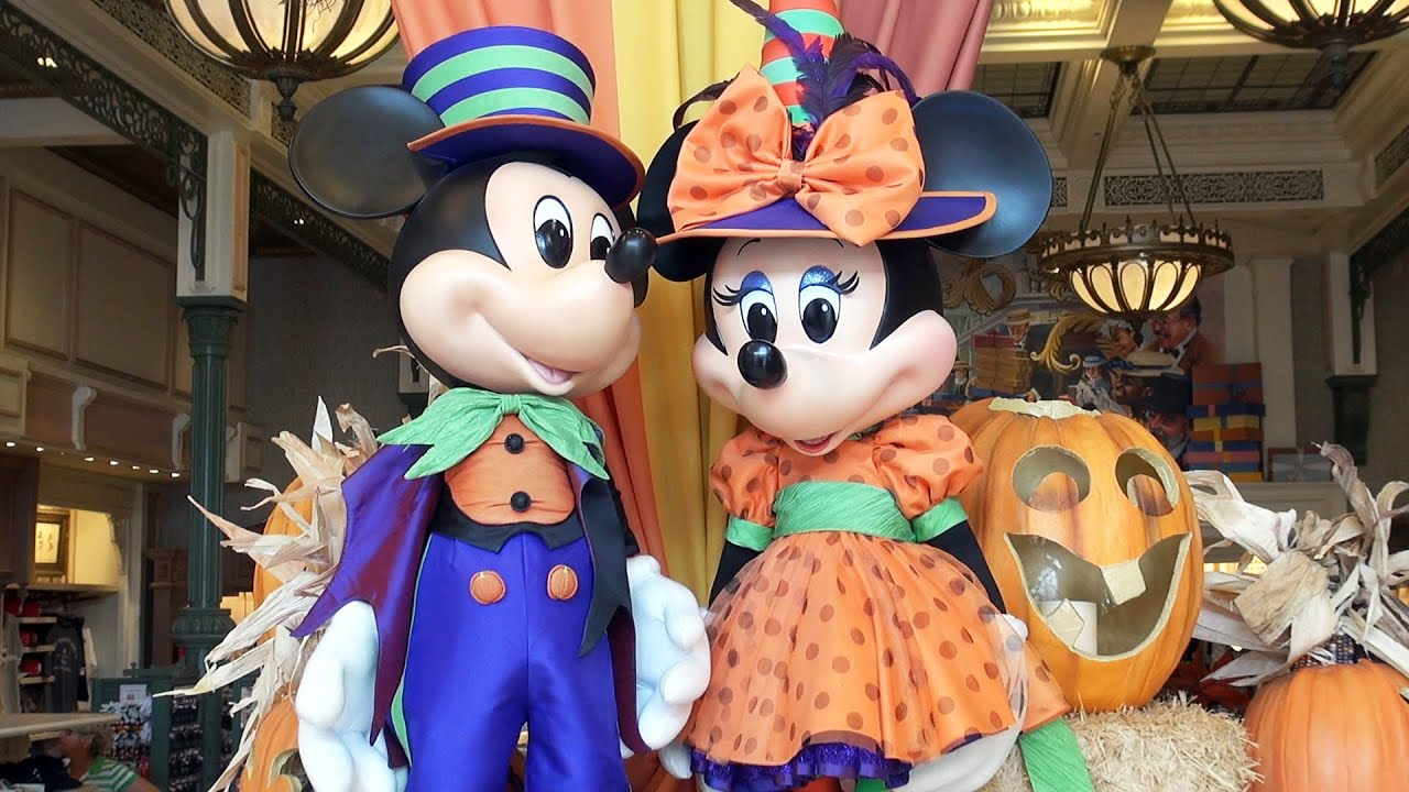 disney halloween merchandise preview 2016 at magic kingdom mickey minnie pumpkin emporium decor youtube - Mickey Minnie Halloween