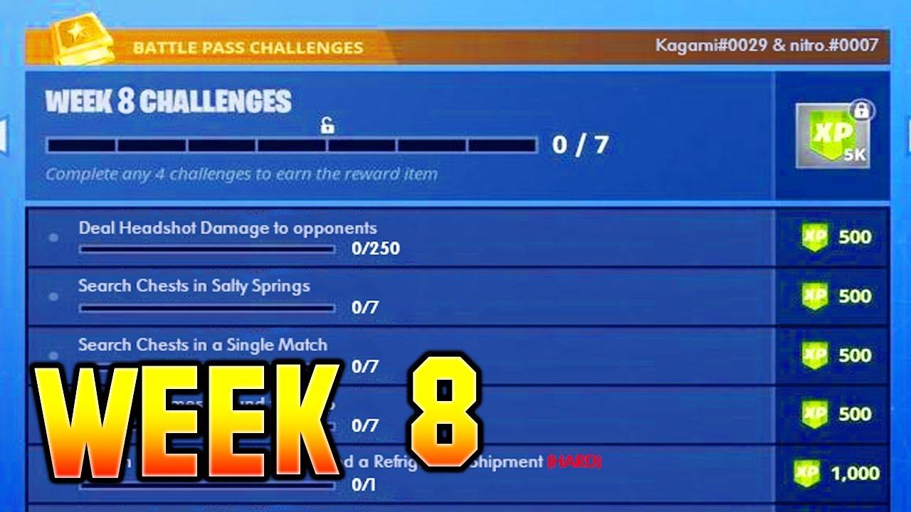 All week 8 challenges fortnite season 8