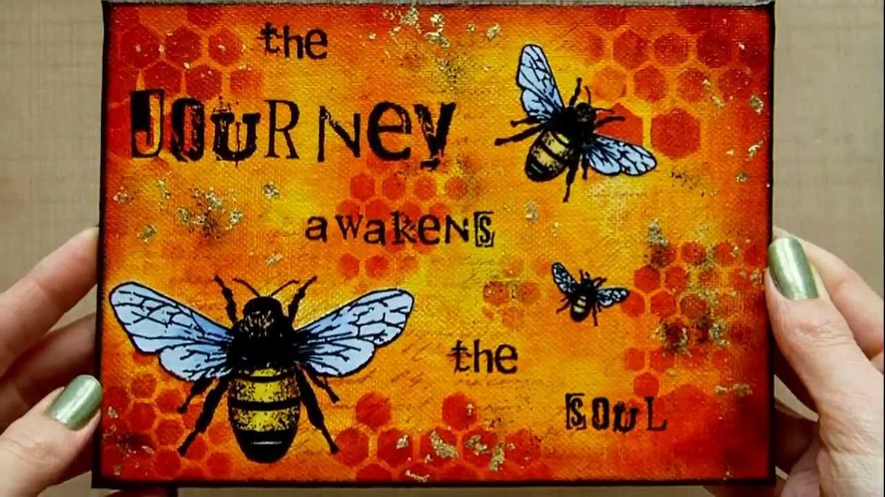 Mixed media art canvas journey youtube