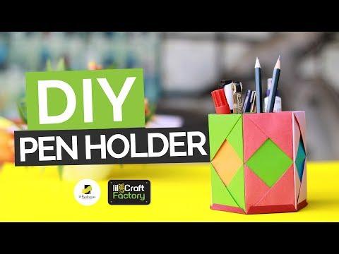 Easy Diy Pen Holder | Origami Craft Ideas | Desk Organizer Hacks | lil-Craft Factory