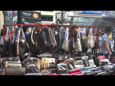 Myeong-dong Market, Seoul, South Korea