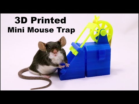 A Crazy Wheel & Rubber Band 3D Printed Mousetrap From Sweden - Mousetrap Monday