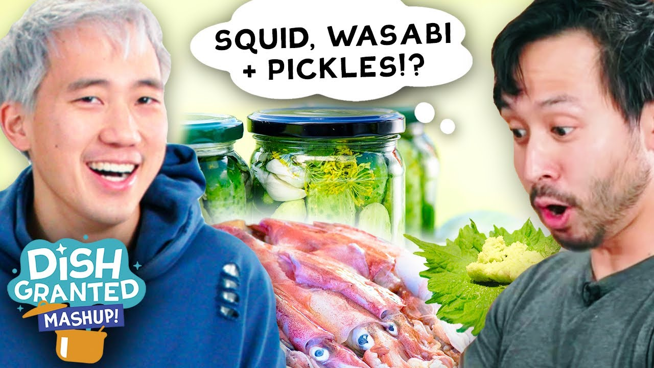 Can I Make A Dish Out Of Squid, Wasabi, & Pickles? • Dish Granted: Mashup