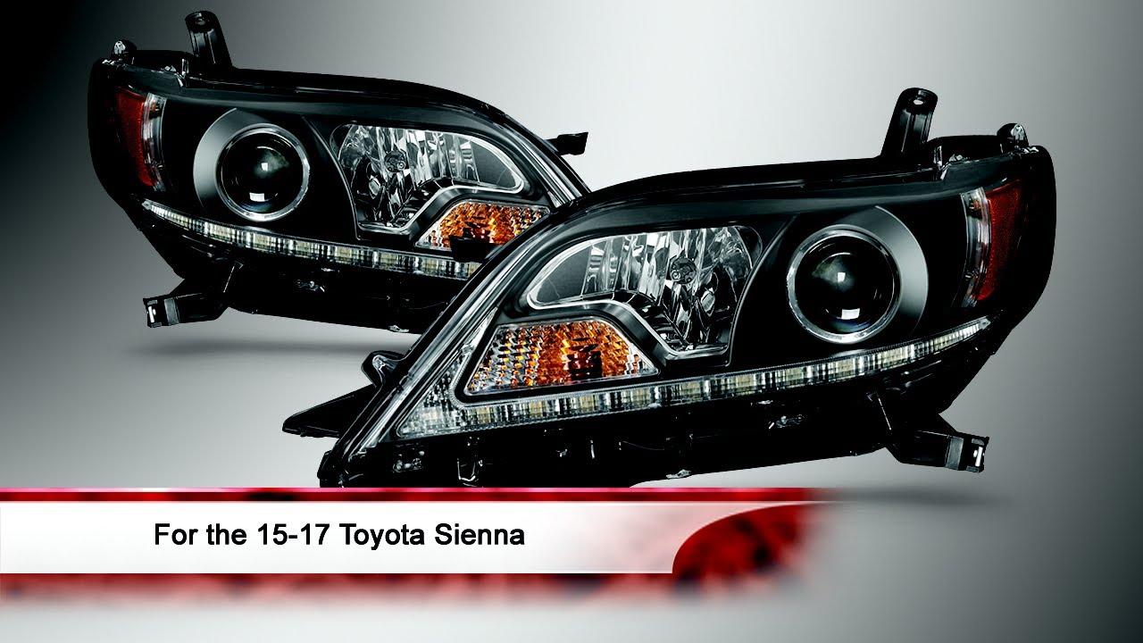 15 17 Toyota Sienna Drl Led Projector Headlights