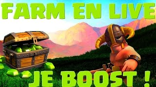 [COC] HDV 10 FARM | 1H DE BOOST MES BUTINS EN LIVE | CLASH OF CLANS FRANCAIS